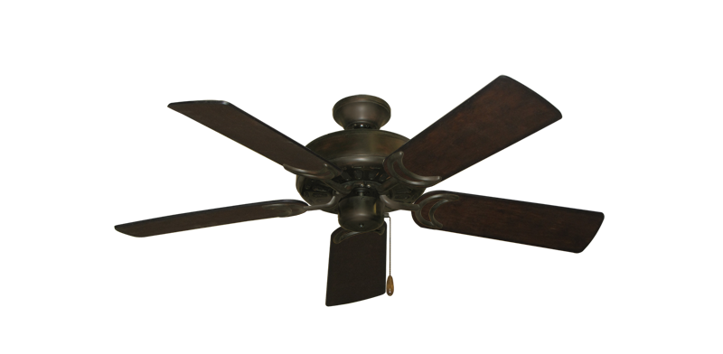 """Picture of Dixie Belle Oil Rubbed Bronze with 44"""" Distressed Walnut Blades"""