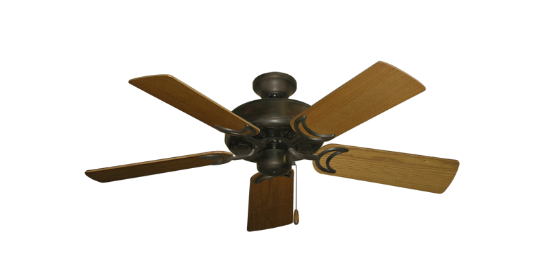 "Picture of Dixie Belle Oil Rubbed Bronze with 44"" Light Oak Blades"