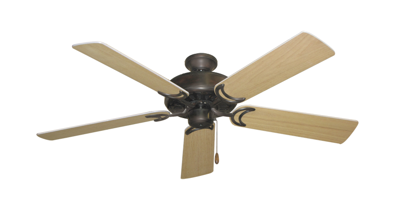 """Picture of Dixie Belle Oil Rubbed Bronze with 52"""" UnMotor Finished Oak Blades"""