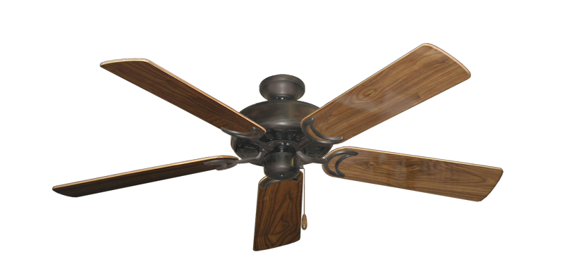 """Picture of Dixie Belle Oil Rubbed Bronze with 52"""" Walnut Gloss Blades"""