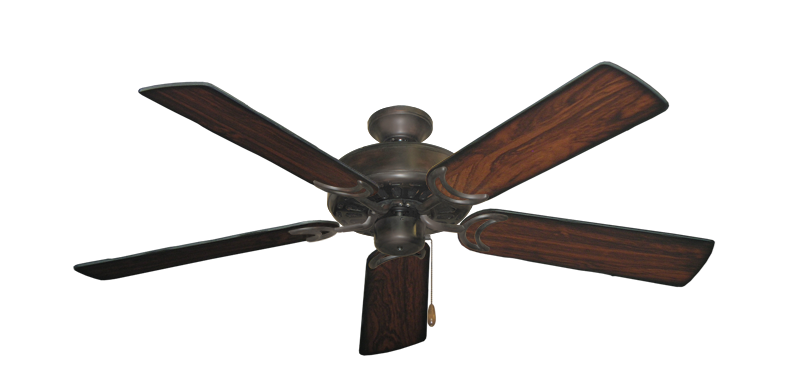 """Picture of Dixie Belle Oil Rubbed Bronze with 52"""" Burnt Cherry Blades"""