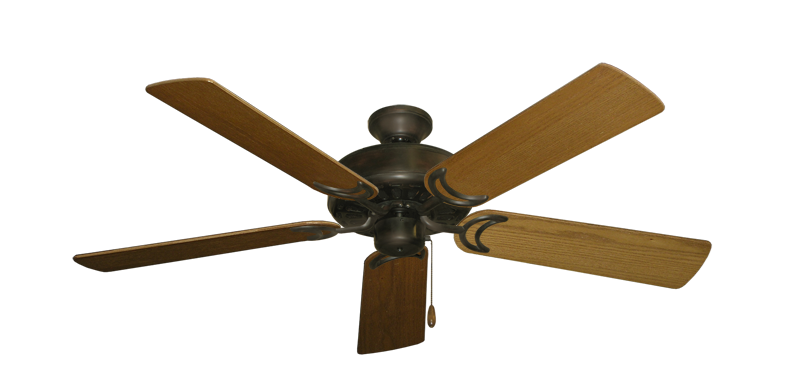 "Picture of Dixie Belle Oil Rubbed Bronze with 52"" Light Oak Blades"
