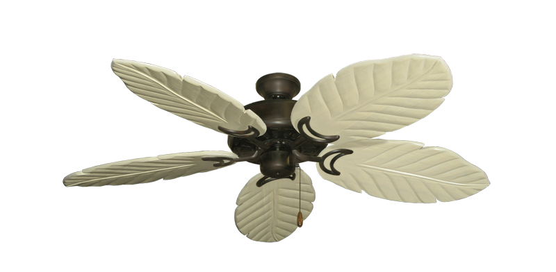 """Picture of Dixie Belle Oil Rubbed Bronze with 52"""" Series 125 Arbor Whitewash Blades"""