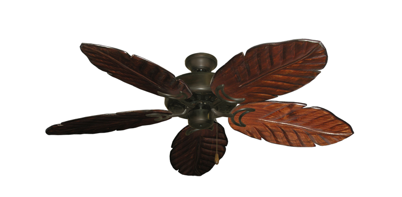 "Picture of Dixie Belle Oil Rubbed Bronze with 52"" Series 125 Arbor Cherrywood Blades"