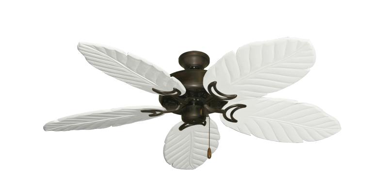 """Picture of Dixie Belle Oil Rubbed Bronze with 52"""" Series 125 Arbor Pure White Blades"""
