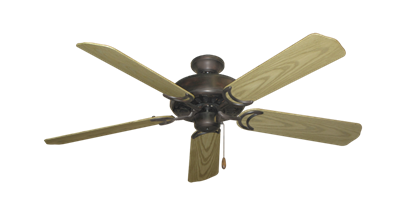 """Dixie Belle Oil Rubbed Bronze with 52"""" Outdoor Bleached Oak Blades"""