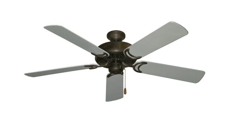 "Picture of Dixie Belle Oil Rubbed Bronze with 52"" Outdoor Brushed Nickel Blades"