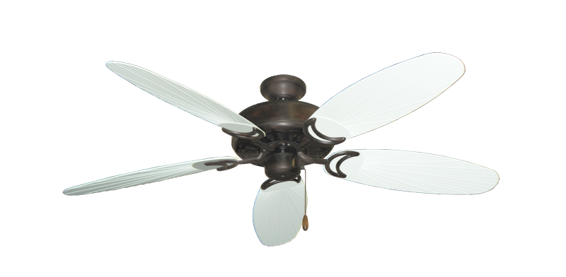 """Dixie Belle Oil Rubbed Bronze with 52"""" Outdoor Leaf Pure White Blades"""