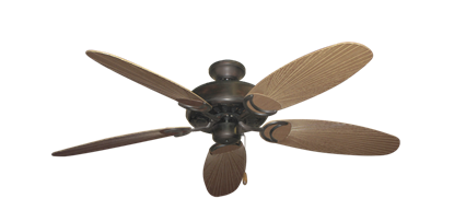 """Dixie Belle Oil Rubbed Bronze with 52"""" Outdoor Leaf Tan Blades"""