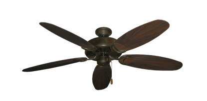 """Dixie Belle Oil Rubbed Bronze with 52"""" Outdoor Leaf Oil Rubbed Bronze Blades"""