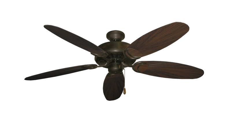"Picture of Dixie Belle Oil Rubbed Bronze with 52"" Outdoor Leaf Oil Rubbed Bronze Blades"