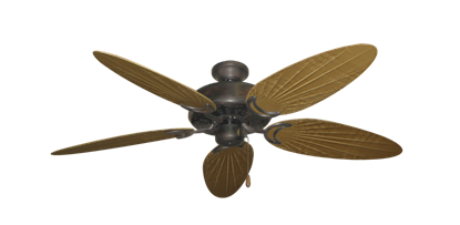 "Picture of Dixie Belle Oil Rubbed Bronze with 52"" Outdoor Palm Walnut Blades"