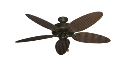 "Picture of Dixie Belle Oil Rubbed Bronze with 52"" Outdoor Bamboo Oil Rubbed Bronze Blades"