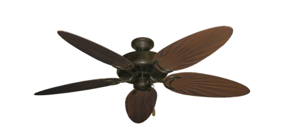 """Dixie Belle Oil Rubbed Bronze with 52"""" Outdoor Palm Oil Rubbed Bronze Blades"""