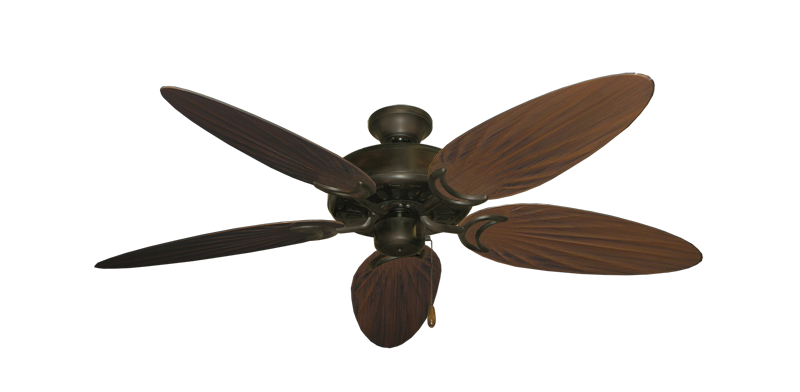 """Picture of Dixie Belle Oil Rubbed Bronze with 52"""" Outdoor Palm Oil Rubbed Bronze Blades"""