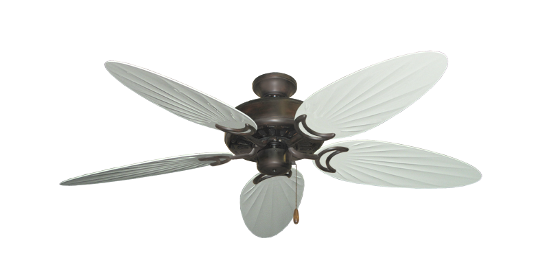 """Dixie Belle Oil Rubbed Bronze with 52"""" Outdoor Palm Pure White Blades"""