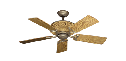 """Picture of Tiki Antique Bronze with 44"""" Oak Gloss Blades"""