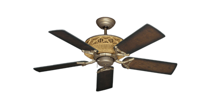 """Picture of Tiki Antique Bronze with 44"""" Distressed Hickory Blades"""
