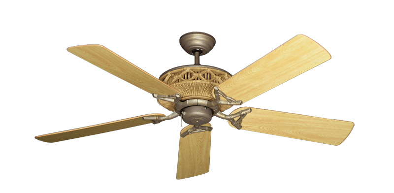"""Picture of Tiki Antique Bronze with 52"""" Honey Oak Gloss Blades"""
