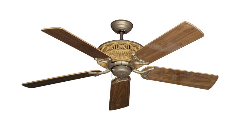 """Picture of Tiki Antique Bronze with 52"""" Walnut Gloss Blades"""
