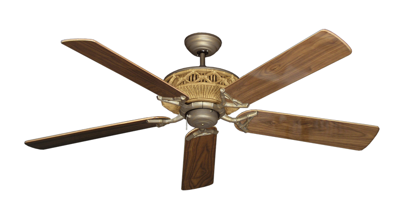 """Picture of Tiki Antique Bronze with 56"""" Walnut Gloss Blades"""