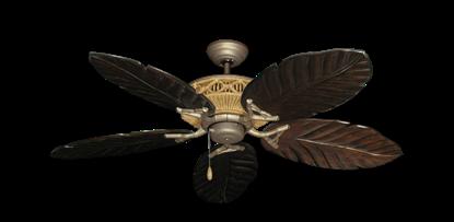 """Tiki Antique Bronze with 52"""" Series 125 Arbor Dark Walnut Blades"""