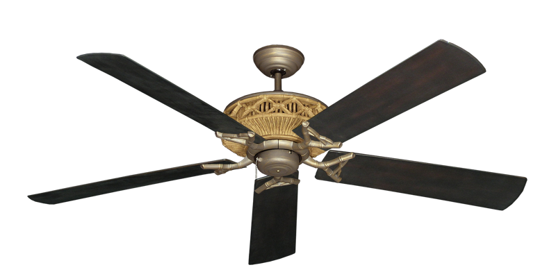 """Picture of Tiki Antique Bronze with 60"""" Outdoor Oil Rubbed Bronze Blades"""