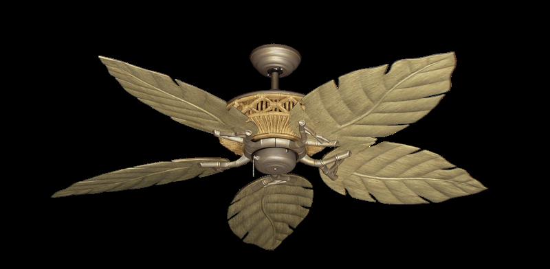 "Picture of Tiki Antique Bronze with 52"" Venetian Walnut Blades"