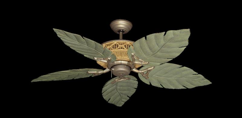 "Tiki Antique Bronze with 52"" Venetian Driftwood Blades"