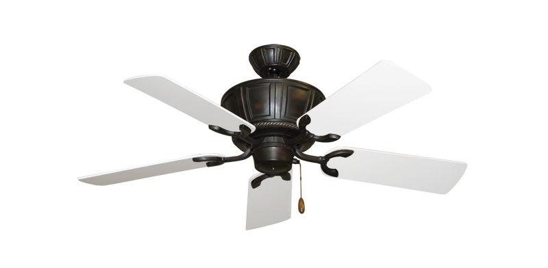 """Picture of Centurion Oil Rubbed Bronze with 44"""" Pure White Blades"""