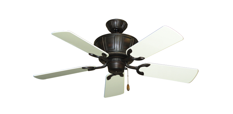 """Centurion Oil Rubbed Bronze with 44"""" Antique White Gloss Blades"""
