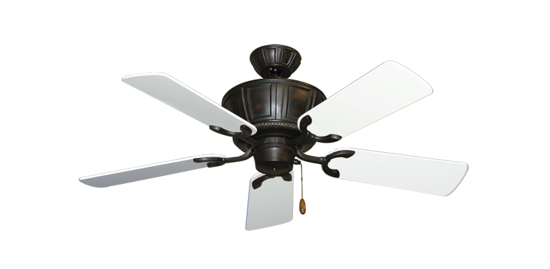 """Picture of Centurion Oil Rubbed Bronze with 44"""" Pure White Gloss Blades"""