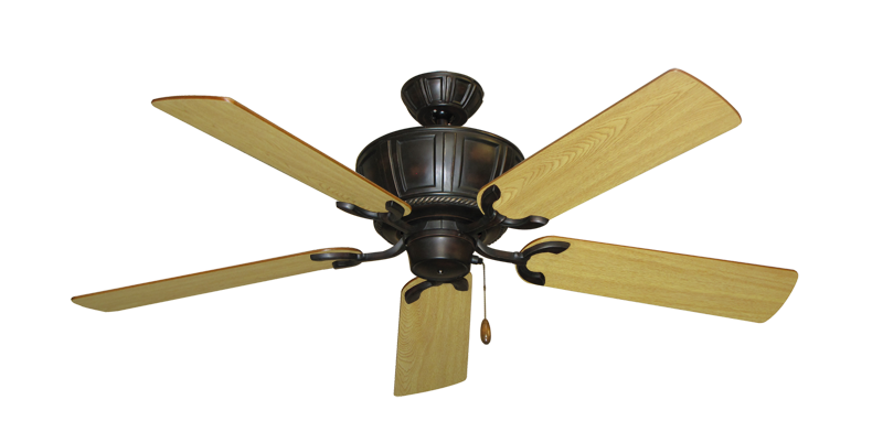 """Picture of Centurion Oil Rubbed Bronze with 52"""" Honey Oak Blades"""