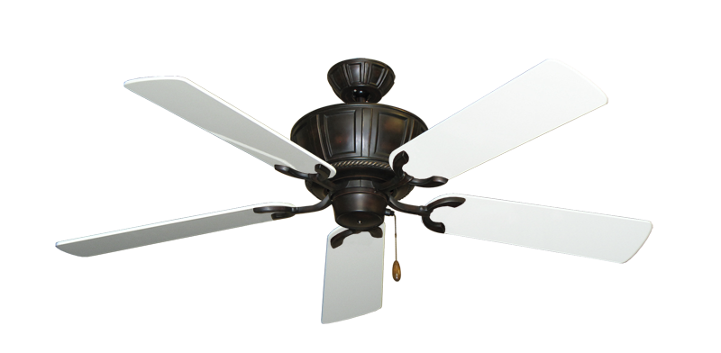 """Centurion Oil Rubbed Bronze with 52"""" Pure White Gloss Blades"""