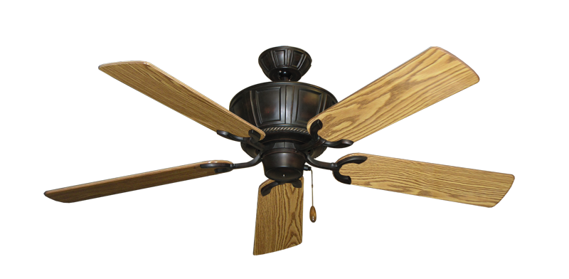 """Picture of Centurion Oil Rubbed Bronze with 52"""" Oak Gloss Blades"""