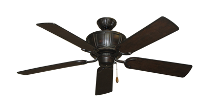 """Picture of Centurion Oil Rubbed Bronze with 52"""" Distressed Walnut Blades"""