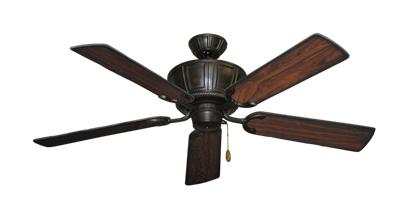 """Centurion Oil Rubbed Bronze with 52"""" Burnt Cherry Blades"""