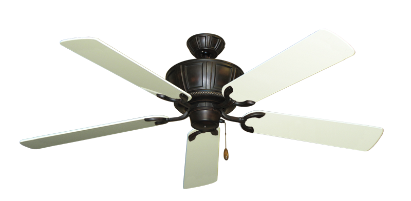 """Picture of Centurion Oil Rubbed Bronze with 56"""" Antique White Gloss Blades"""