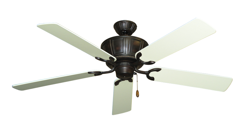 """Picture of Centurion Oil Rubbed Bronze with 56"""" Antique White Blades"""