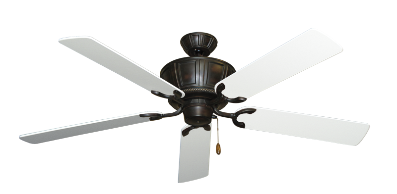 """Picture of Centurion Oil Rubbed Bronze with 56"""" Pure White Blades"""