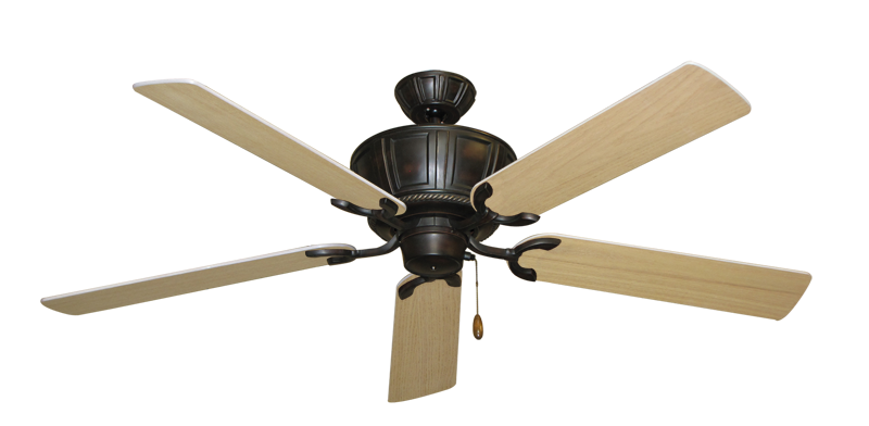 """Picture of Centurion Oil Rubbed Bronze with 56"""" UnMotor Finished Oak Blades"""