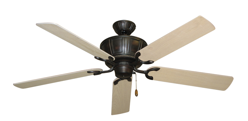 """Centurion Oil Rubbed Bronze with 56"""" Bleached Oak Blades"""