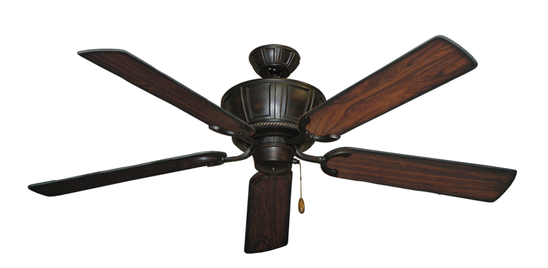 "Centurion Oil Rubbed Bronze with 56"" Burnt Cherry Blades"