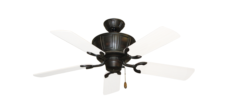 """Picture of Centurion Oil Rubbed Bronze with 44"""" Outdoor Pure White Blades"""