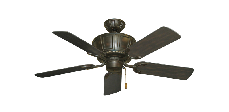 """Centurion Oil Rubbed Bronze with 44"""" Outdoor Oil Rubbed Bronze Blades"""