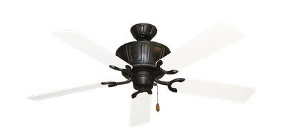 """Centurion Oil Rubbed Bronze with 52"""" Outdoor Pure White Blades"""