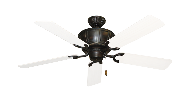 "Centurion Oil Rubbed Bronze with 52"" Outdoor Pure White Blades"