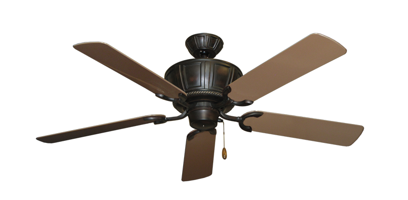 "Centurion Oil Rubbed Bronze with 52"" Outdoor Brown Blades"