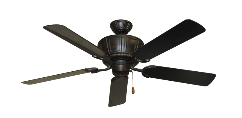 """Picture of Centurion Oil Rubbed Bronze with 52"""" Outdoor Black Blades"""