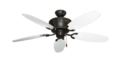 "Picture of Centurion Oil Rubbed Bronze with 52"" Outdoor Leaf Pure White Blades"